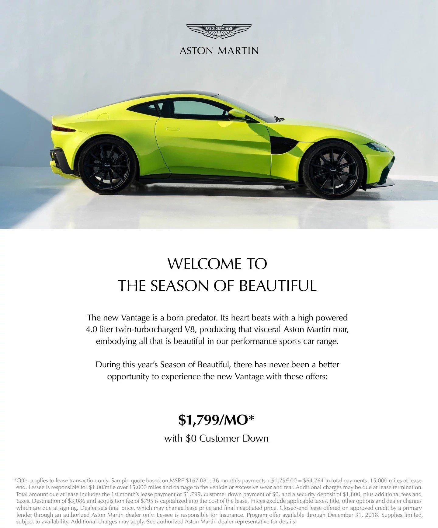 Vantage Lease Special At Aston Martin Houston