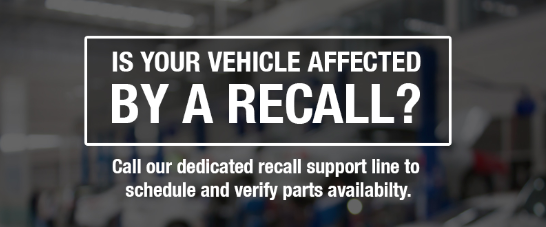 is your vehicle afffected by a recall