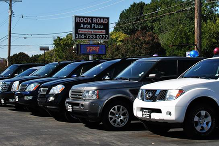 map of used cars for sale in the St. Louis MO area